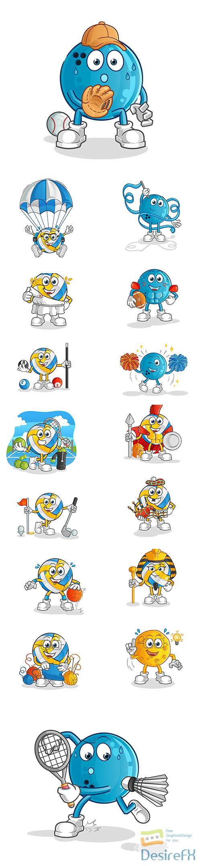 Sport mascot cartoon