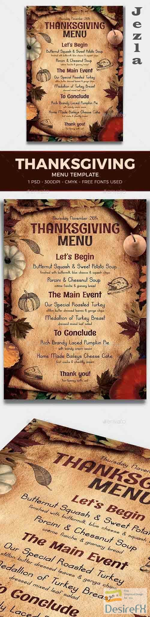 Thanksgiving Menu Template V2 - 17774429 - 887796