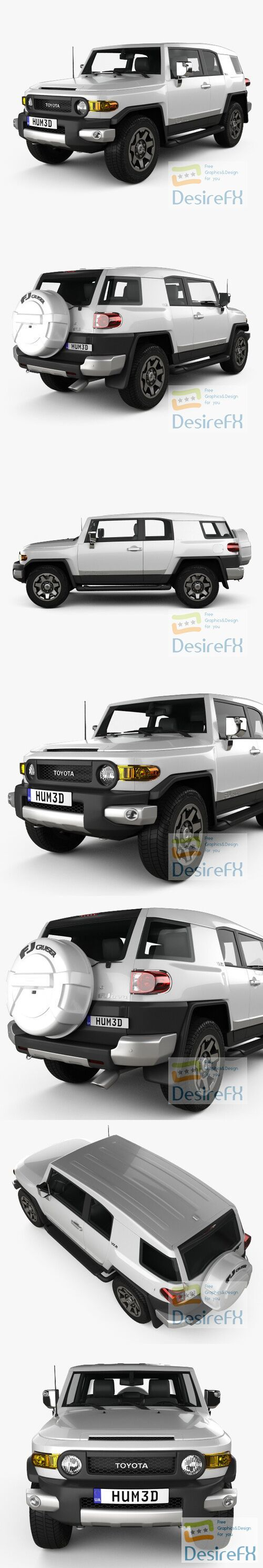 Toyota FJ Cruiser VXR 2011 3D Model