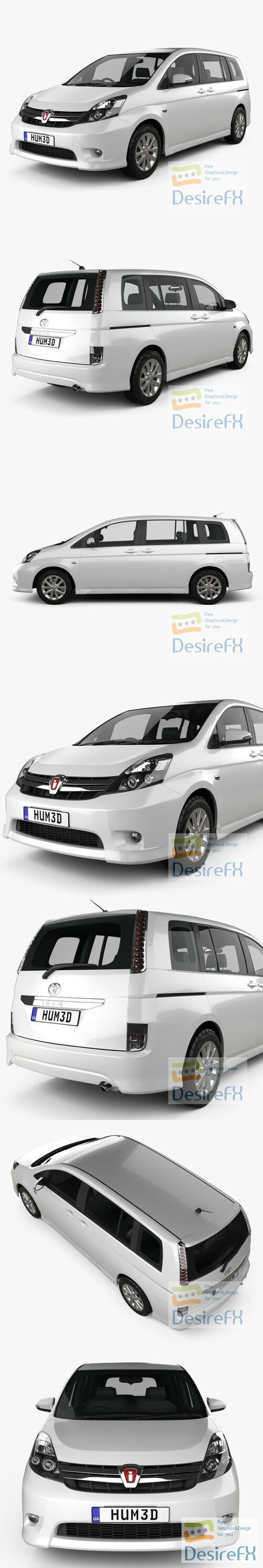 Toyota Isis 2012 3D Model