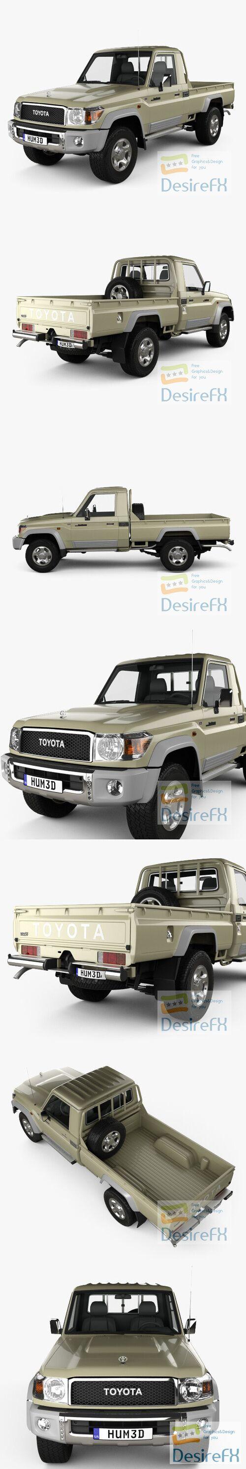 Toyota Land Cruiser Single Cab Pickup VXR 2007 3D Model