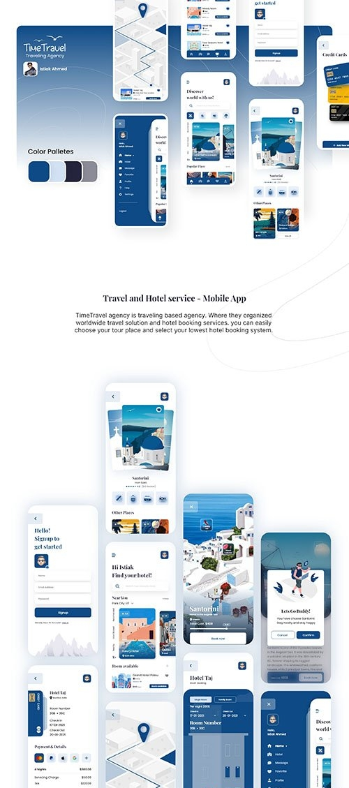 Travel and Hotel service - Mobile App