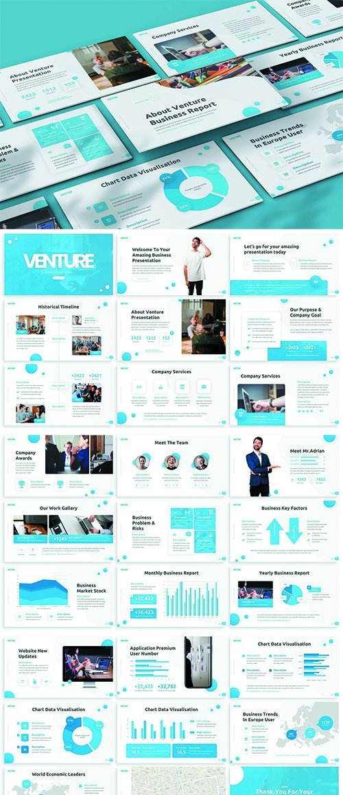 Venture - Business Powerpoint Template
