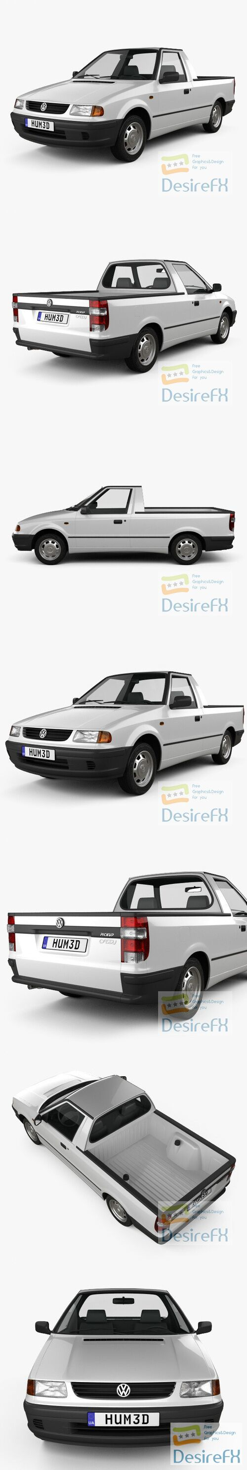 Volkswagen Caddy 1995 3D Model