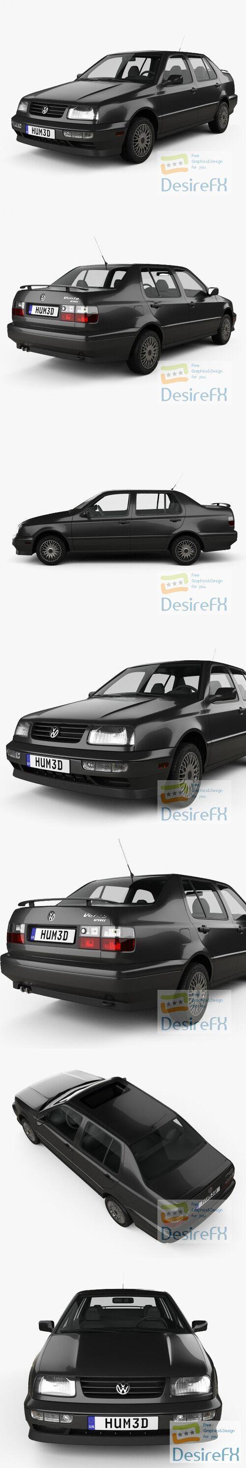 Volkswagen Jetta 1992 3D Model