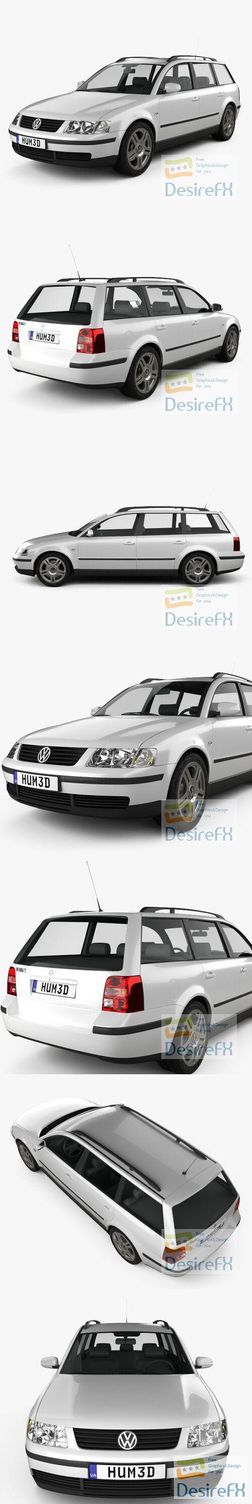 Volkswagen Passat variant 1997 3D Model