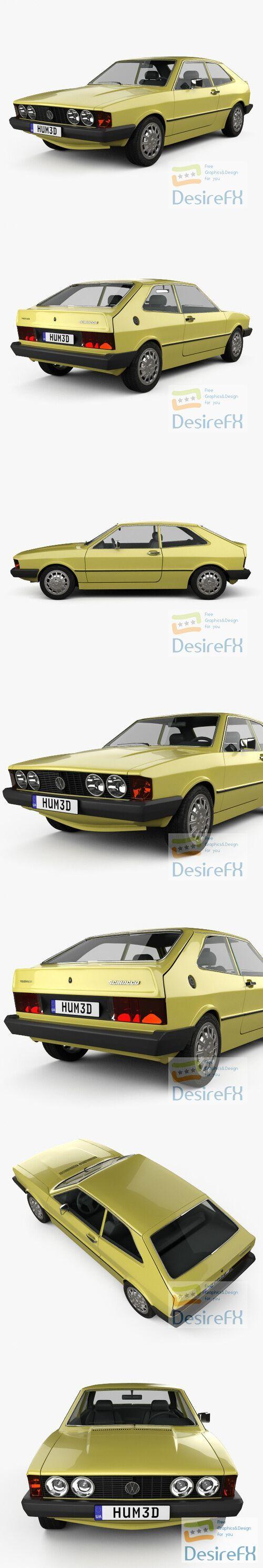 Volkswagen Scirocco 1977 3D Model