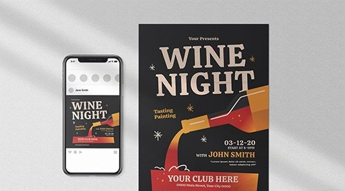 Wine Night Flyer Pack