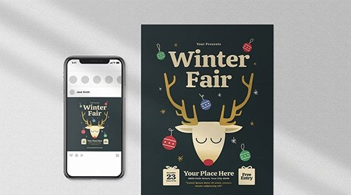 Winter Fair Flyer Set