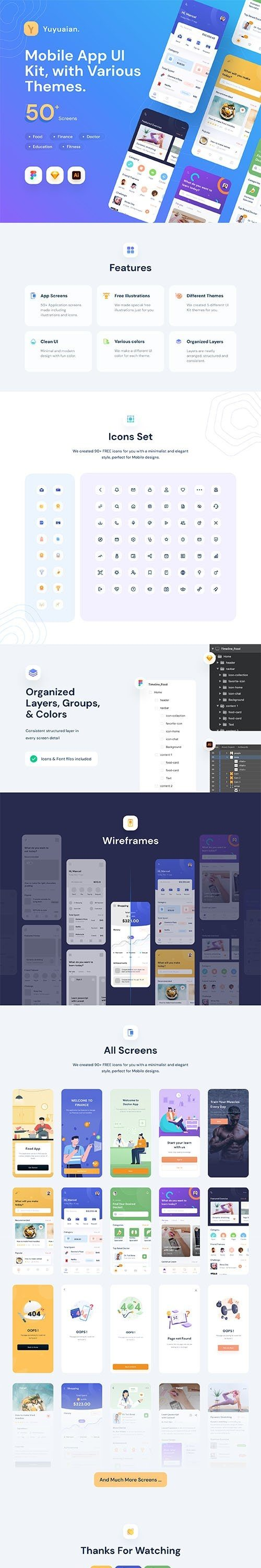 Yuyuaian Mobile UI Kit