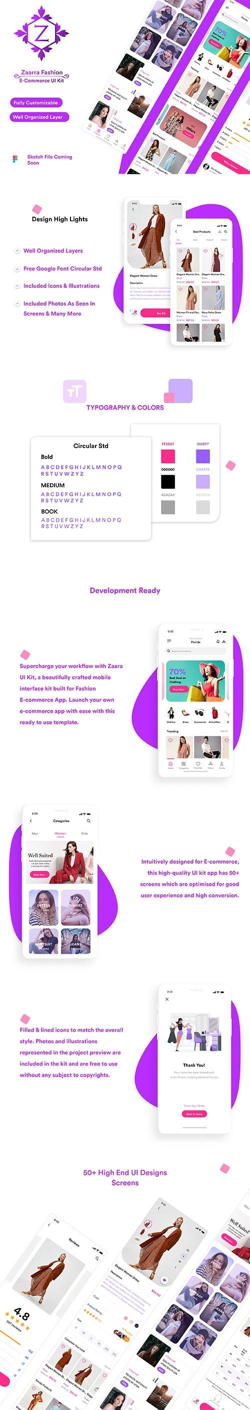 Zaara Fashion ecommerce UI Kit