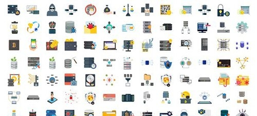 100 Cyber Security & Database Icons 29767048
