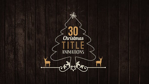 30 Christmas Title Animations 21095942
