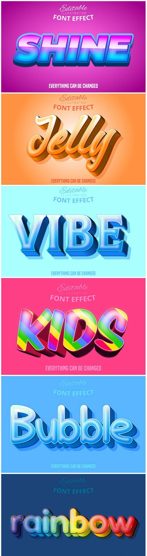 3d editable text style effect vector vol 163