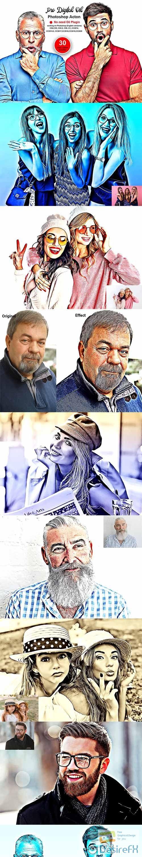 CreativeMarket - Pro Digital Oil Photoshop Action 5493798