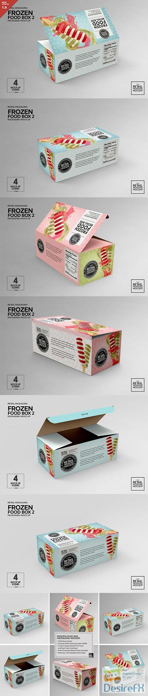 CreativeMarket - Retail Frozen Food Packaging2 Mockup 5730740