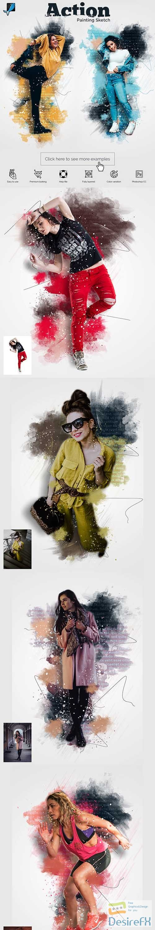 GraphicRiver - Painting Sketch Photoshop Action 29477559