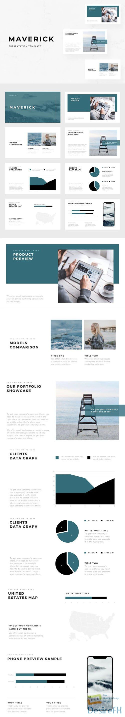 Maverick Minimal Presentation PPTX/KEY Template