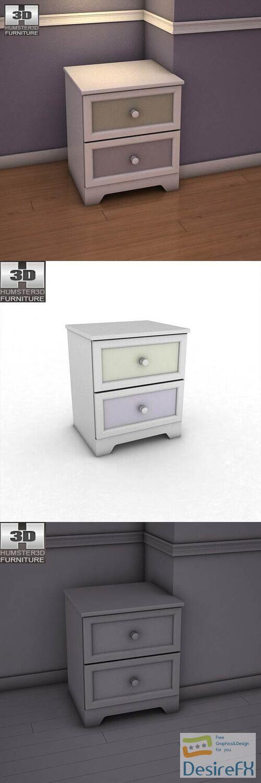 Ashley Sandhill Nightstand 3D Model