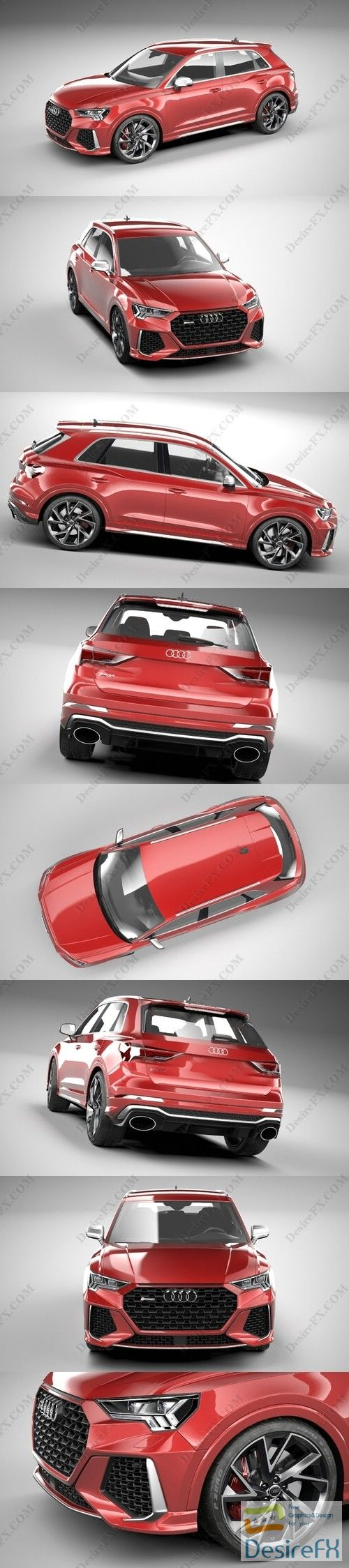Audi RS Q3 2020 3D Model