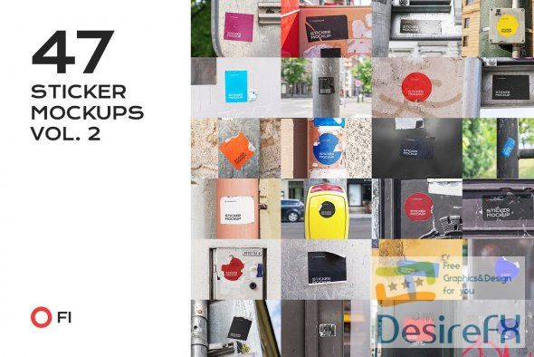 CreativeMarket - 47 sticker mockup bundle vol 2 5358460