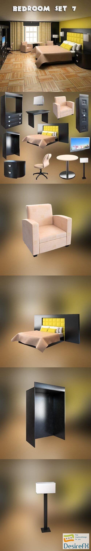 Bedroom Furniture 07 Set 3D Model