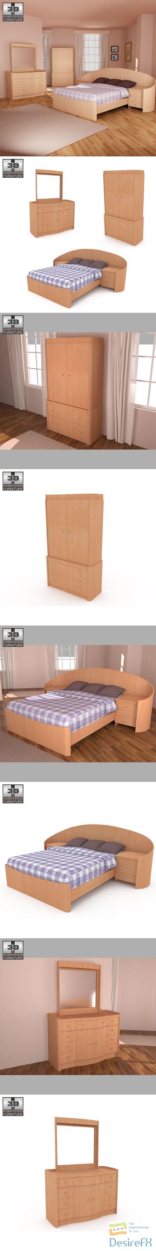 Bedroom Furniture 16 Set 3D Model