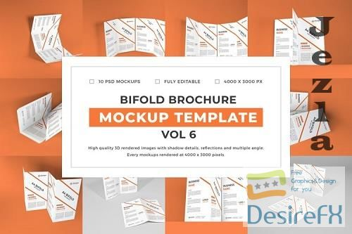 Bifold Brochure Mockup Template Bundle Vol 6 - 1088468