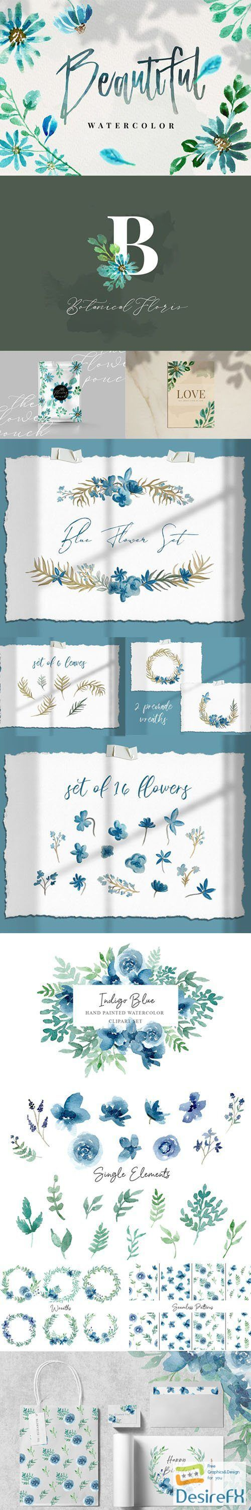 90+ Gracious Blue Watercolor Collection