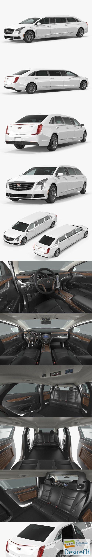 Cadillac XTS Six Door Limousine 3D Model