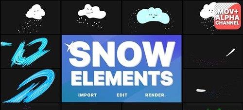 Cartoon Snow Clouds | Motion Graphics 29691837
