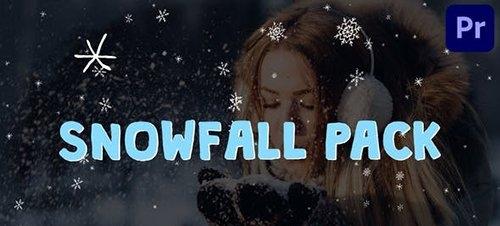 Cartoon Snowfall   Premiere Pro MOGRT 29516157