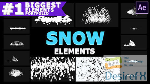 Cartoon Snowflakes   After Effects 29605909