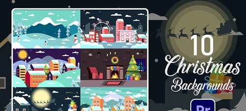 Christmas Backgrounds | Premiere Pro MOGRT 29512504