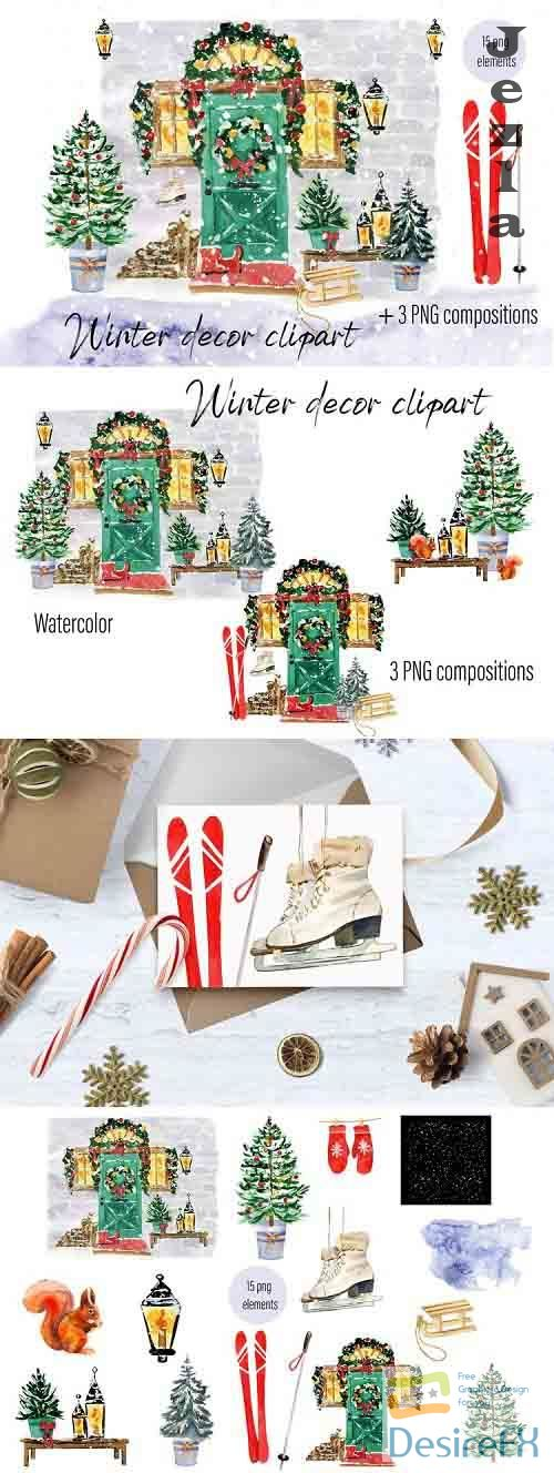 Christmas Door decoration Scene Planner - 1089218