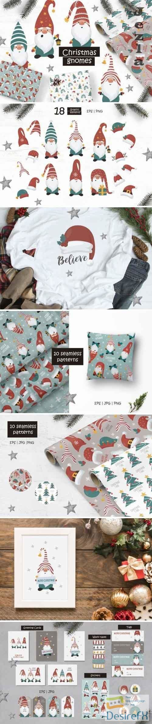 Christmas Gnomes and Patterns - 5652971