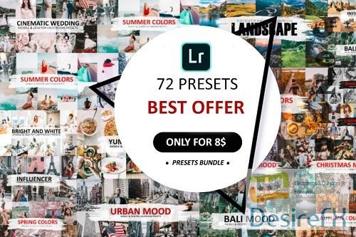 CreativeMarket - 72 Preset Pack For Lightroom 5582781