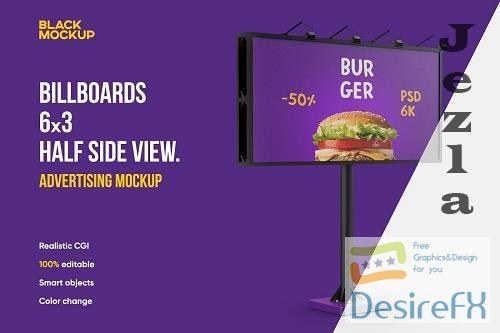 CreativeMarket - Billboard 6x3 Mockup 5529294