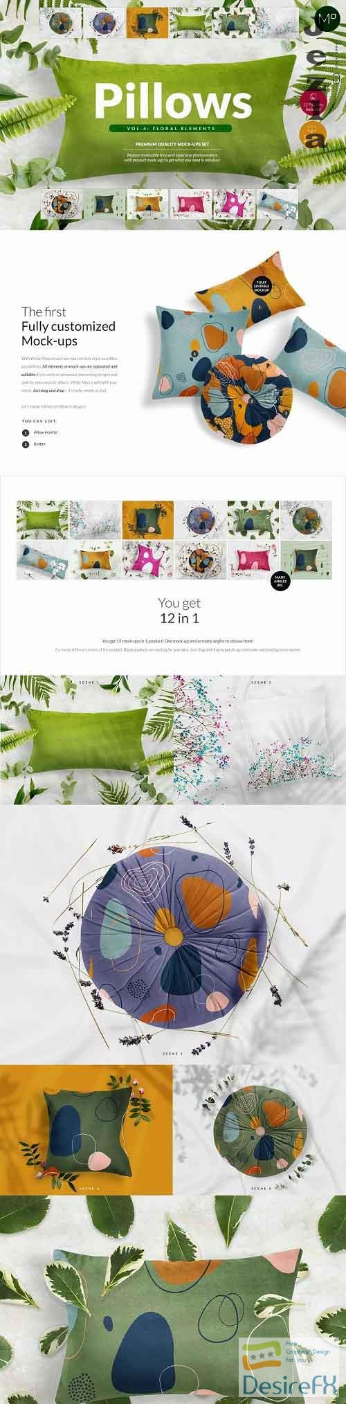 CreativeMarket - Pillows vol.4: with floral elements 5367751