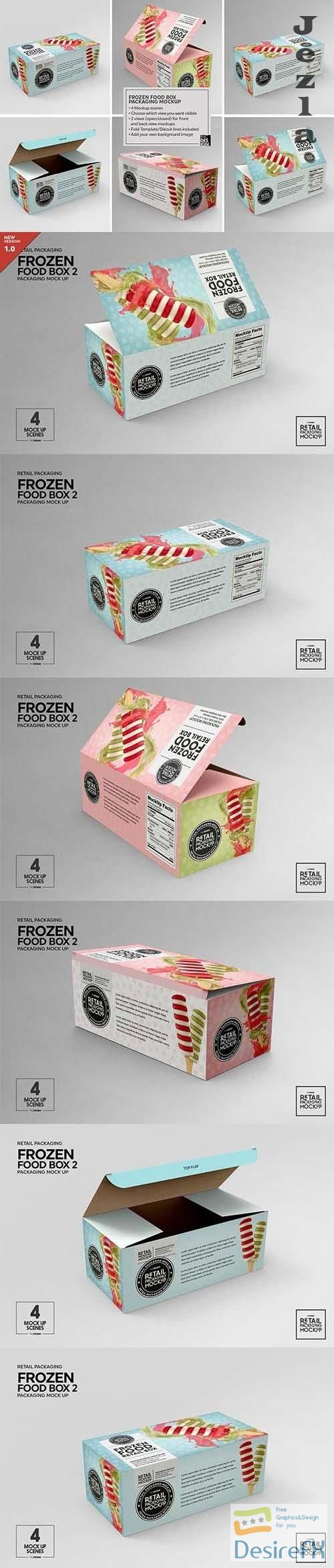 CreativeMarket - Retail Frozen Food Packaging2 Mockup 5730740