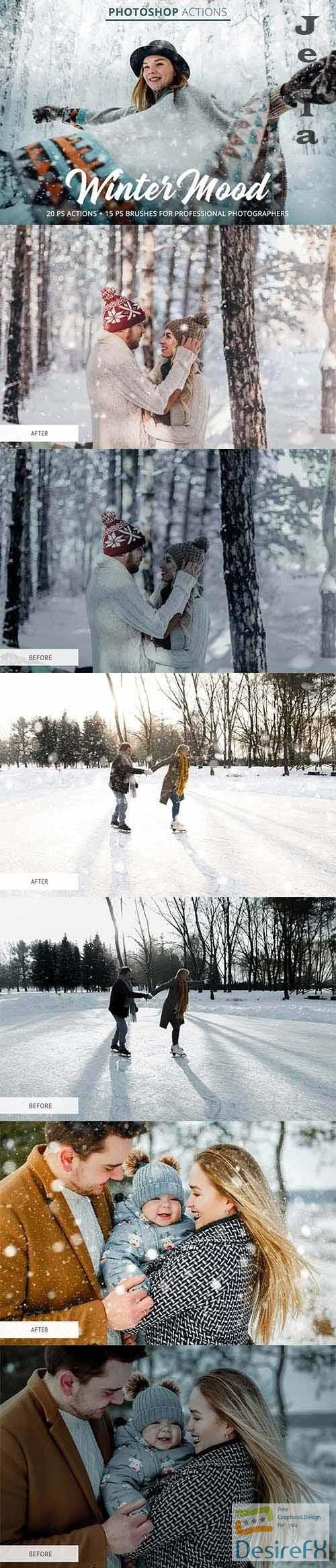 CreativeMarket - Winter Mood Actions for Photoshop - 4849563