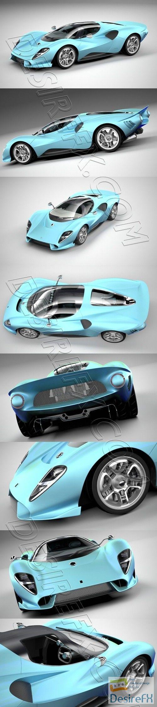 De Tomaso P72 2020 3D Model