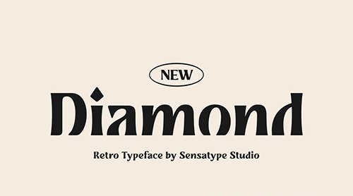 Diamond - Retro Typeface