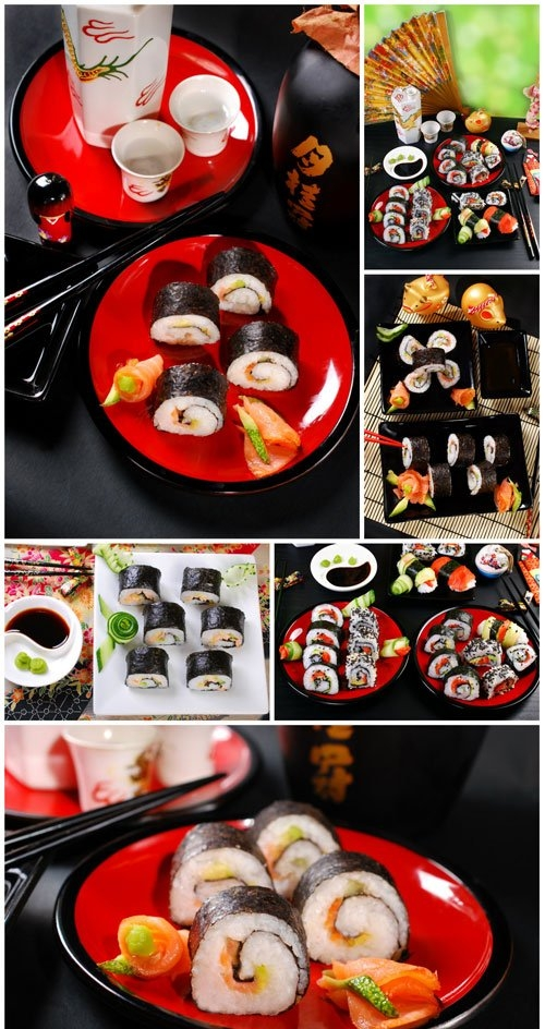 Eastern food sushi stock photo