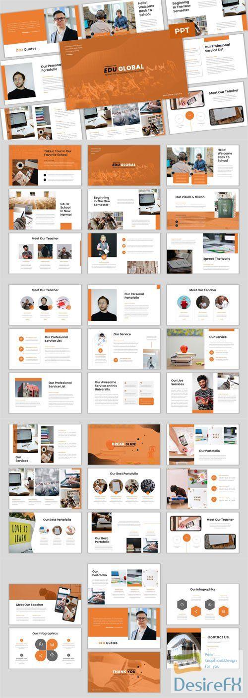 Edu Global - Education PowerPoint & Google Slides Presentation PPTX Templates