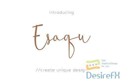 Esaqu - Modern & Feminine Fonts!