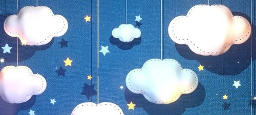 Fabric Clouds Paper Art 29199645