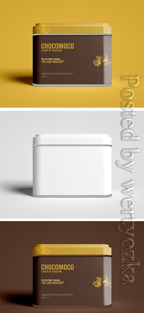 Food Product Packaging Tin Can Mockup