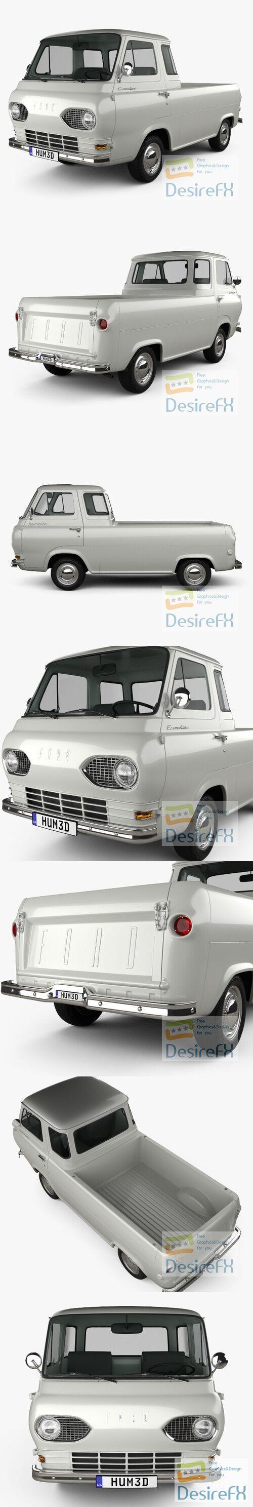 Ford E-Series Econoline Pickup 1963 3D Model