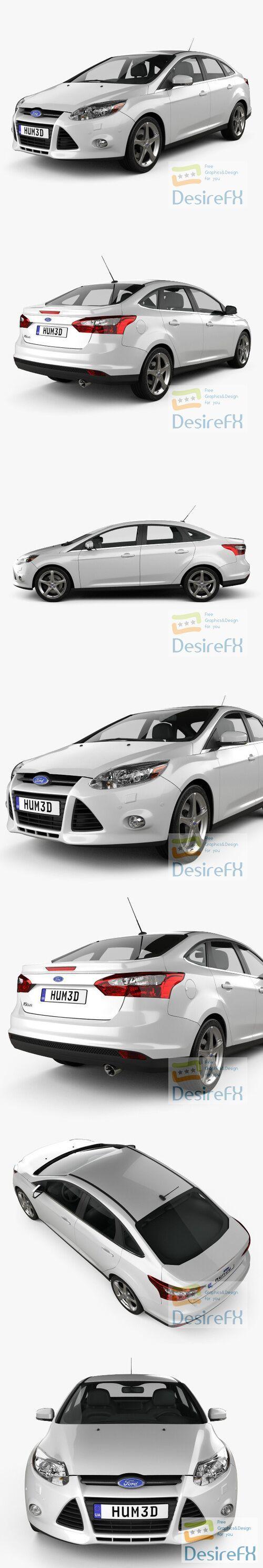 Ford Focus Sedan 2011 3D Model